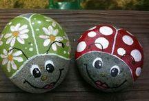 Ladybugs - painted rocks