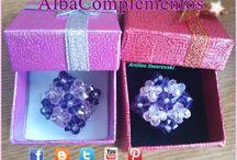 Joyas Swarovski y Abalorios / anillos, colgantes, pendientes, pulseras, broches, zarcillos, etc. Hechos a mano con cristales Swarovski