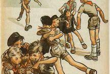 Scouts / Les Scouts et les Guides pour qui Joubert a tant dessiné