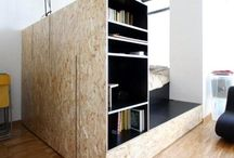 plaat // plywood / pegboard, plywood & chipwood