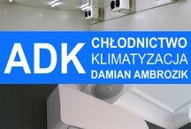 ADK Chłodnictwo Klimatyzacja / Firma ADK Chłodnictwo Klimatyzacja świadczy profesjonalne usługi w zakresie instalacji wszelkich urządzeń chłodniczych oraz klimatyzacyjnych i oferuje objęty gwarancją sprzęt najwyższej jakości wiodących na rynku producentów.   Przedsiębiorstwo jest autoryzowanym serwisantem, monterem oraz sprzedawcą marek: FUJI ELECTRIC, HAIER, LG, ASPEN, ASPERA, LUNITE HERMETIQUE, LAE, DANFOSS, ELECTRA.   Serdecznie zapraszamy do współpracy!  www.adk-klimatyzacja.pl