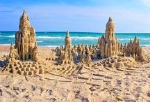 sandcastles | artist Lou Gagnon, LynnVale Studios / by Andrea Gagnon