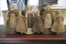Primitive Dolls / Some of my favorite primitive dolls!