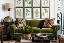 Decor - Greens of Spring / Color Collages and Ideas for Home Decor