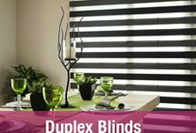 Duplex Blinds / Duplex Blinds are double roller blinds which allows for an open or closed position relating to the sheer / solid weave of the fabric. The open and closed effect comes from the movement of the shade up or down. Supplied in our cassette system, with ball-chain, sidewinder control. Our designer Duplex blind gives you a roller blind system that controls light and privacy.