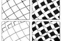 zentangle blokjespatroon / zentangle patronen