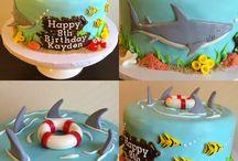 Sea birthday cake boy 6th