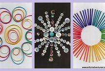 Mandalas für Kinder / Mandalas gestalten mit Kindern -malen, basteln....