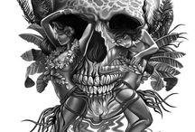 Inspirational figure skull