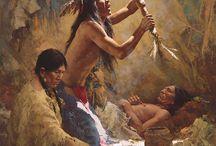 Howard Terpning / Este un american pictor si grafician cel mai bine cunoscut pentru picturile sale de americani nativi.Terpning a finalizat peste 80 de postere de film incepand cu Tunurile din Navarone în 1961. Alte exemple includ Cleopatra , Doctor Jivago , The Sound of Music , The Sand Pebbles , iar 1967 re-lansare a Pe aripile vântului .