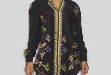 Kemeja Batik Wanita Lengan Panjang Motif Bambu [1175]