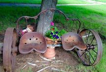 Old wheels and upcycling ideas.
