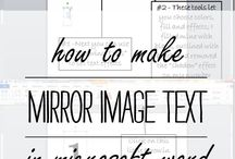 DIY-Mirror image text