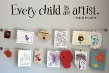 Child's art gallery
