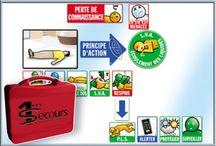 Supports de formation PSC1 et SST / Livret secourisme, transparents et cartes pédagogiques PSC1