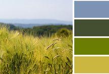 (Farb-)Kombinationen / Farbkombinationen für Wohnen