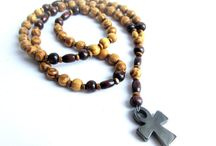 Mens rosary necklace