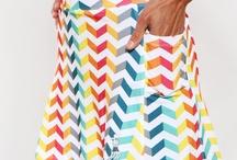 NEW Runbow Rainbow Chevron Print Running Skirts