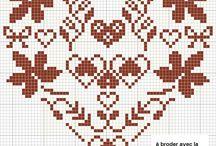 embroidery; point de croix