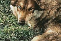 križikova vyšivka - vlk