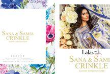 SANA & SAMIA CRINKLE / PRICE @PKR 1,650/- SHOP ONLINE: www.lala.com.pk