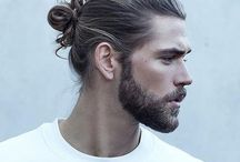 Mens hair and beard.