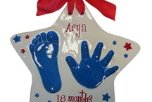 Ceramic Keepsakes - Star Shape / All ceramic keepsakes can be done in a hand and foot (up to 12 Months), or single hand (up to about 5-6 years). Cute!