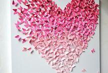 coração borboletas
