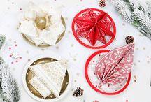 Serviettes de table Noël