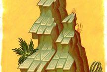 Vuoret ja rakennukset