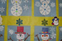 zima / výtvarné náměty se zimní tematikou, vánoce
