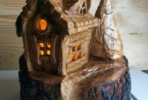 reciclado y adornos   de madera