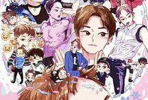 EXO Birthday Fan Art / Cr. langmanpanda