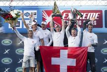 "Alinghi crowned 2014 & Sydney champions in the best day's racing of the year. / Alinghi snatch Act victory in Sydney and with it become 2014 Extreme Sailing Series™ Champions after 231 races this year. 2nd place for The Wave, Muscat while Realteam take third in Sydney and in the Series, as Leigh McMillan looks ahead. ""Morgan got the jump this year, we will try and take it back next year.""- Capsize for GAC Pindar cuts their regatta short following a collision with Realteam.  - Just over 7 weeks until the 2015 global tour kicks off in Singapore, 5th February,"
