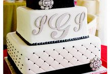 #black #white #glam #wedding