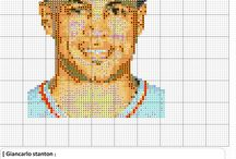 MLB  cross-stitch