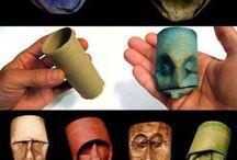 Ansigter af toiletruller