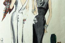 fashion 1950 mood board