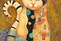 Gustev Klimt cats