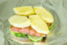 pineapple salmon foil