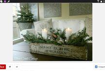 decoracion navideña,  para las mesas....