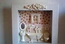 quadros porta banheiros