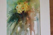 Watercolor Jean Haines, Ann Blockley, Fabio Cembranelli