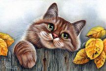 Декупаж. Коты