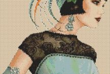 Cross Stitch Art Deco