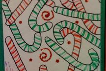 school - christmas art