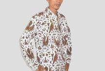 Kemeja Batik Pria Lengan Panjang Putih [1233]