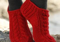 Free patterns: sock & slippers