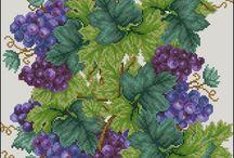 Σταυροβελονιά - Φρούτα