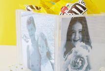 Marco de fotos con capa de CD